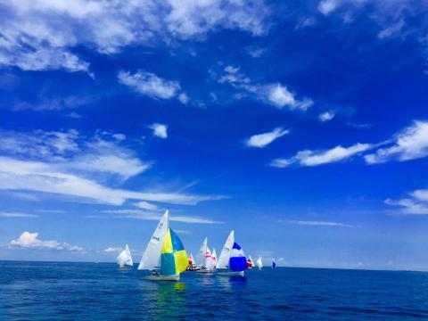 Gorgeous glimpse of the regatta (photo by Jorie Johansen)